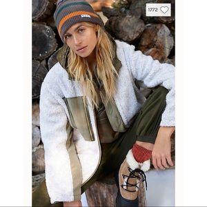 Free People 'Rivington' Sherpa Jacket NWT MEDIUM
